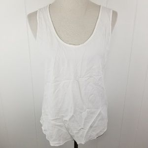 Jams World XL Womens 50 Years Solid White Tank Top